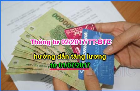 Thông tư 022017TT-BNV hướng dẫn tăng lương từ 0172017